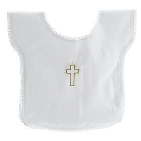 Baptismal shirt with cross 100% cotton s1