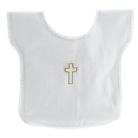 Baptismal gown 100% cotton with cross embroidery s1