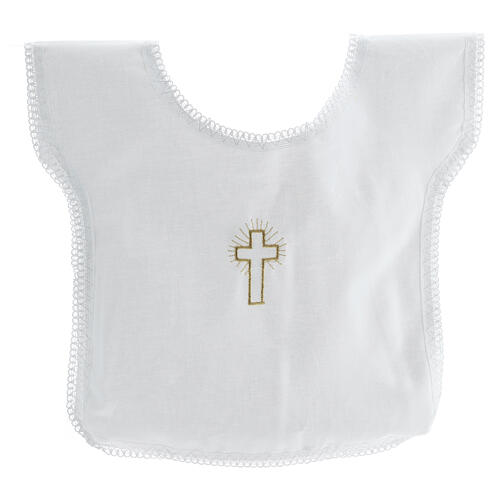 Baptismal gown 100% cotton with cross embroidery 1