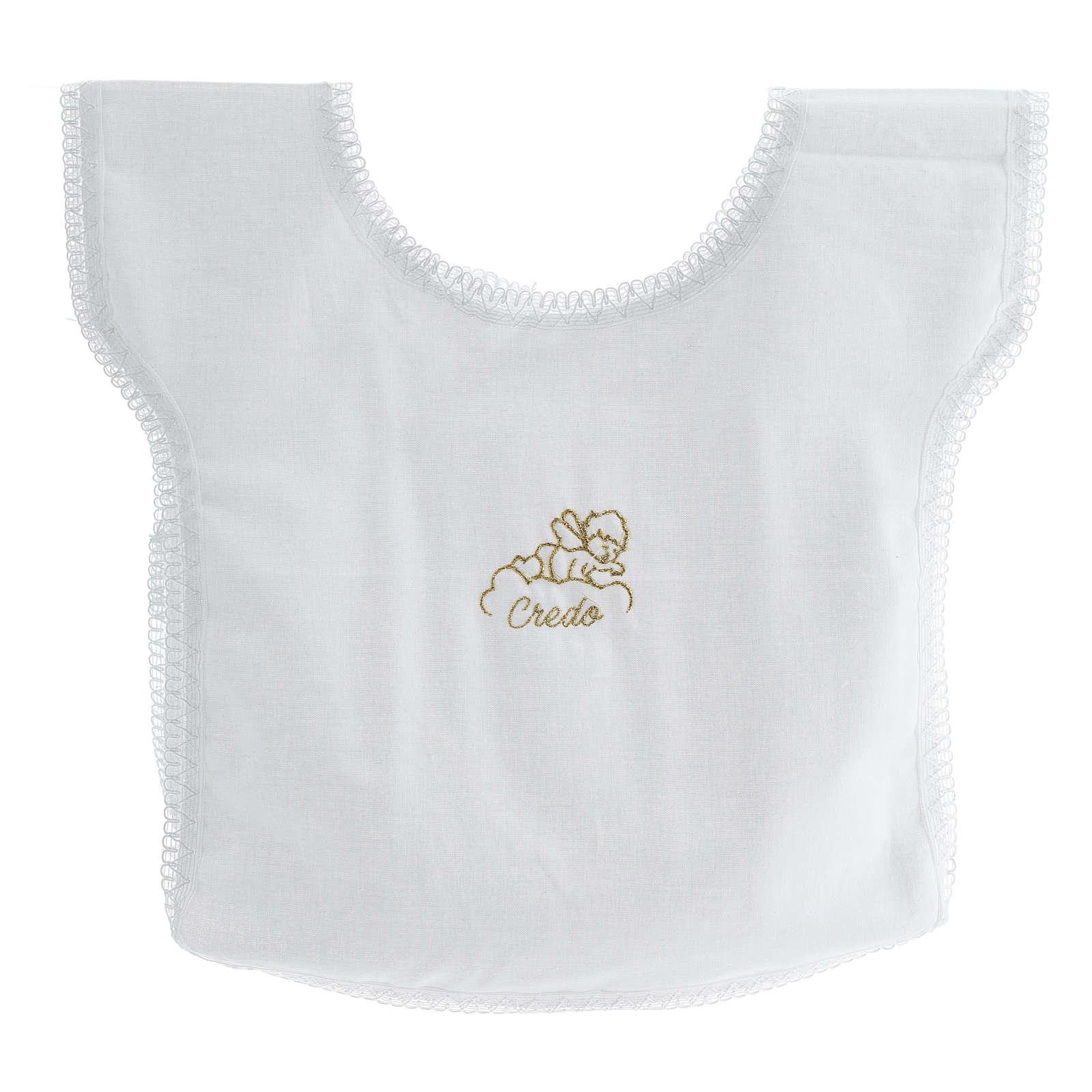 Baptismal shirt with angel on cloud 100% cotton 4