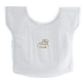 Baptismal shirt with angel on cloud 100% cotton s1