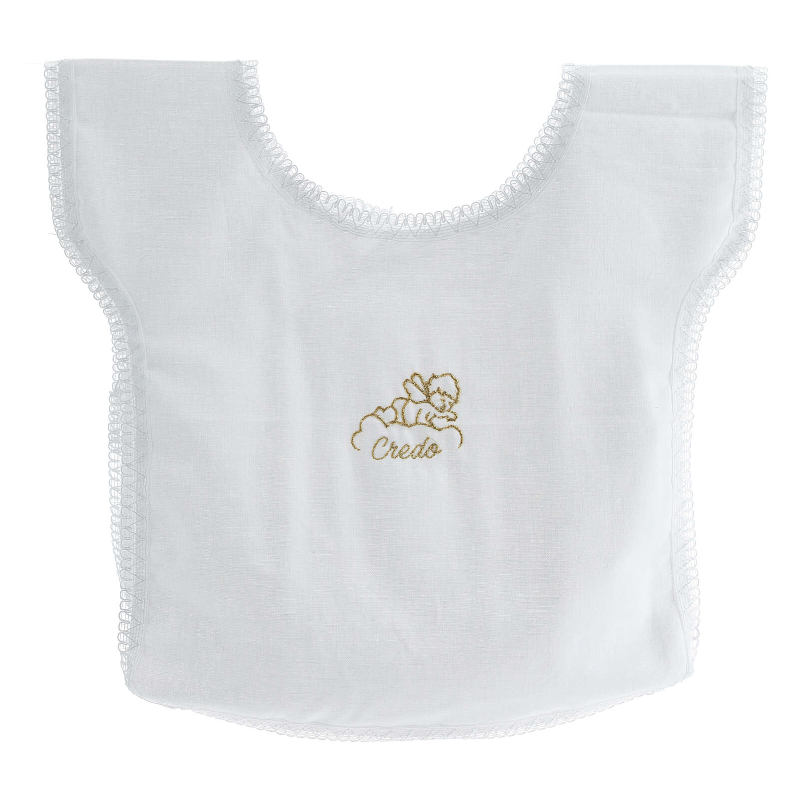 Baptismal gown 100% cotton with angel on a cloud 4
