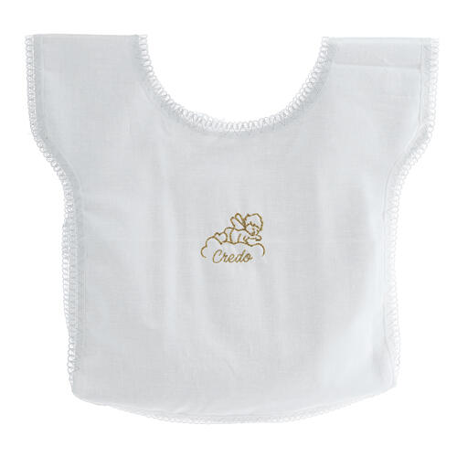 Baptismal gown 100% cotton with angel on a cloud 1
