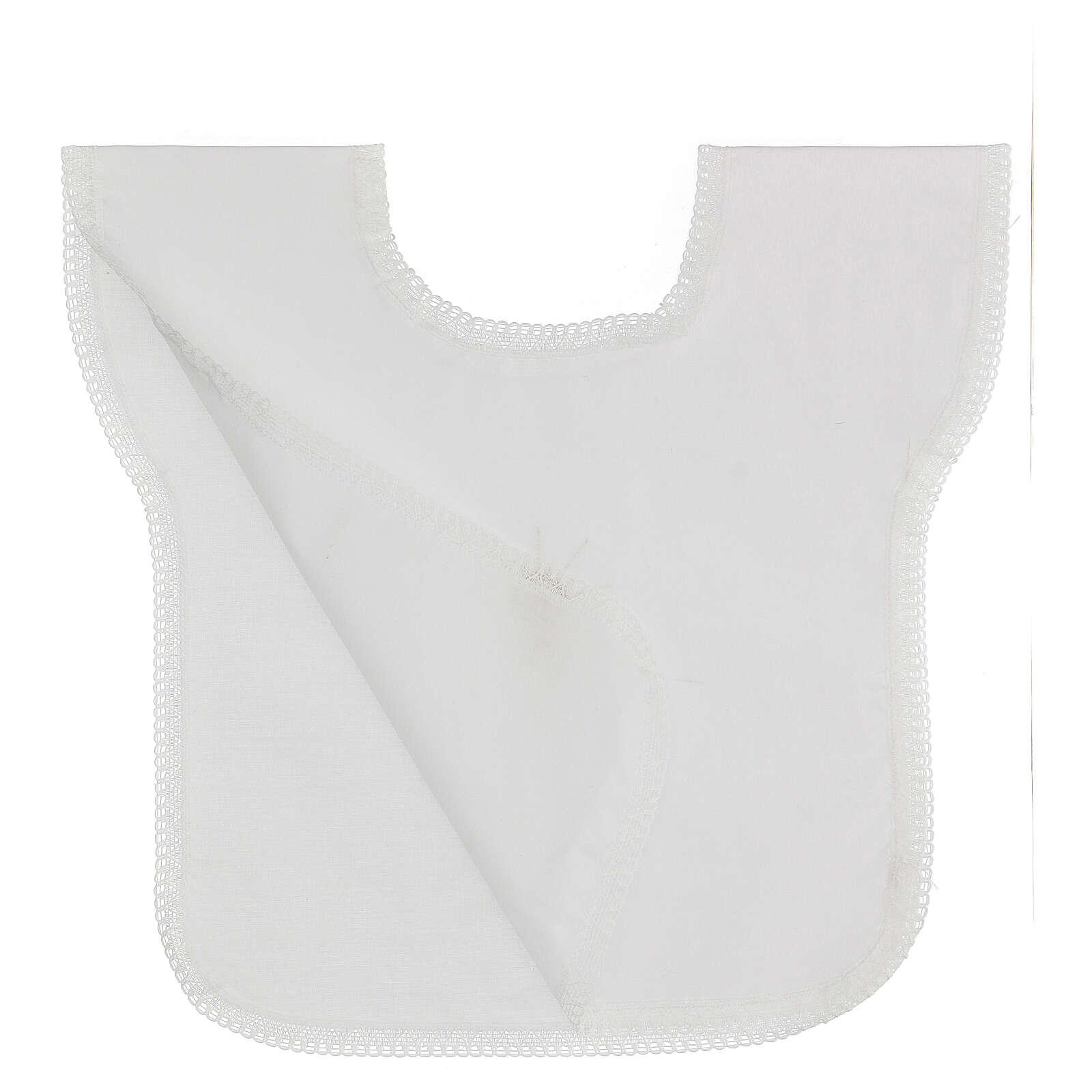 Set bautismo faldón y pañuelo mixto algodón blanco 10 piezas 4