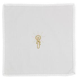Set bautismo faldón y pañuelo mixto algodón blanco 10 piezas s6