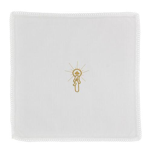 Set battesimo vestina e fazzoletto 10 pz misto cotone bianco 5