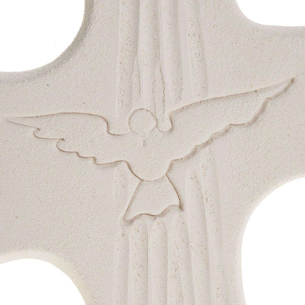 Cruz de confirmación Espíritu Santo Blanco 15 cm 3