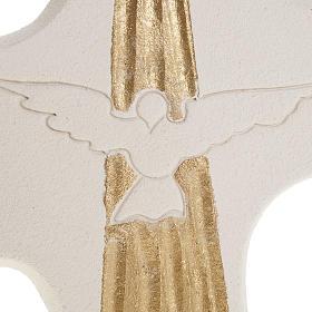 Cruz de confirmación Espíritu Santo Blanco 15 cm s2