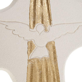 Bas-relief Crucifix  Confirmation Holy Spirit, white or gold 15 s2