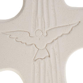 Bas-relief Crucifix  Confirmation Holy Spirit, white or gold 15 s3