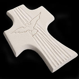Bas-relief Crucifix  Confirmation Holy Spirit, white or gold 15 s5