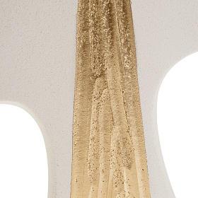 Cruz de confirmación estilizada Blanco con dorado 15 cm s2