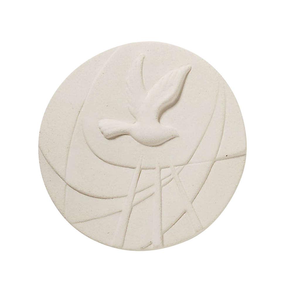 Quadretto tondo bianco Cresima 3
