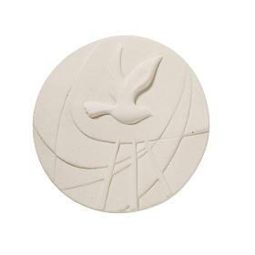 Quadretto tondo bianco Cresima s1