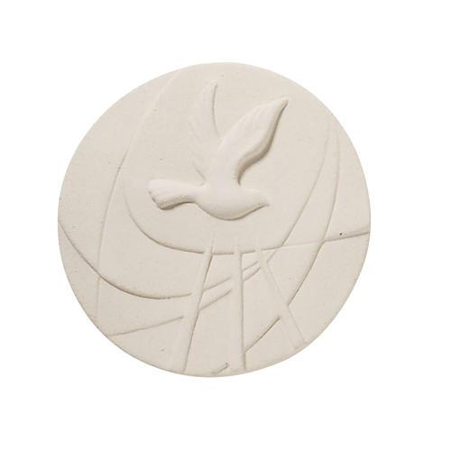 Quadretto tondo bianco Cresima 1