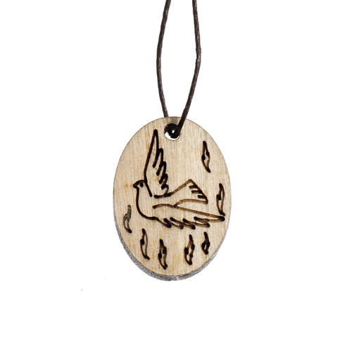 Confirmation medal in wood 1