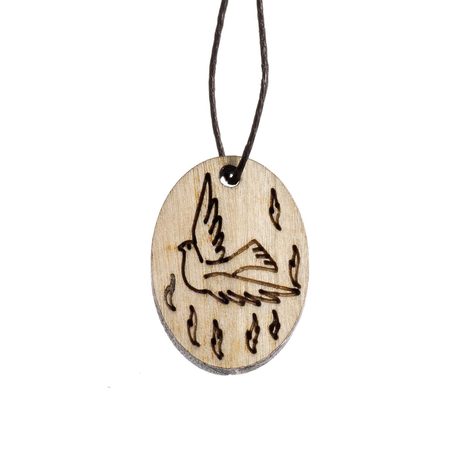 Medaglia Cresima legno 4