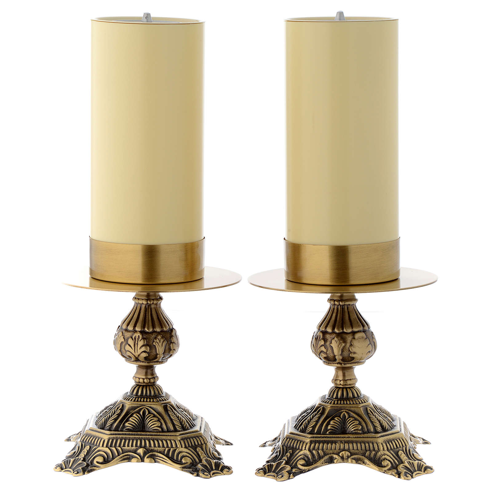 Pair of altar candle holders 4