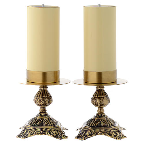 Pair of altar candle holders 1