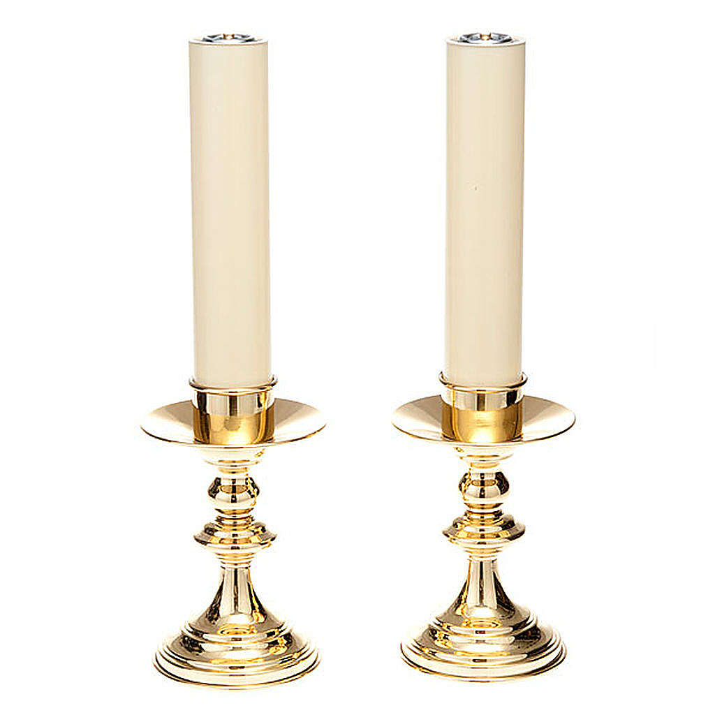 pair of lucid brass candle holders 4