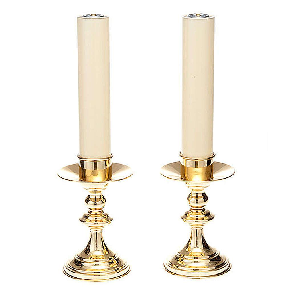 Duo Chandelier autel, laiton lucide 4