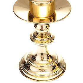 Coppia candelieri altare ottone lucido s4