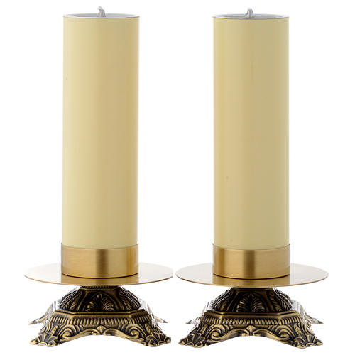 Pair of brass candle holders 1