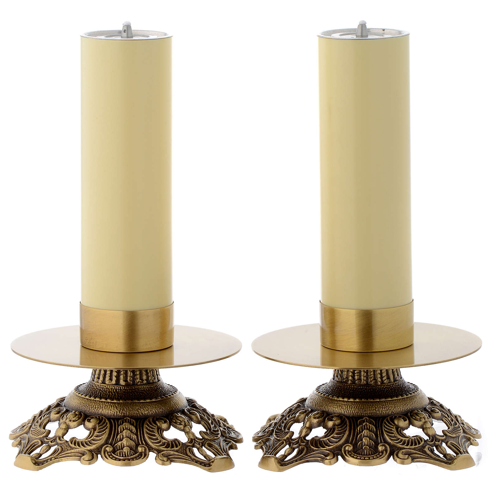 Pair of wrought candle holders 4