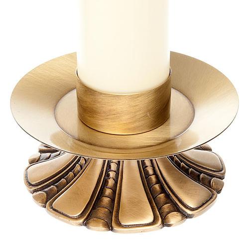 Candelieri altare petali ottone 3