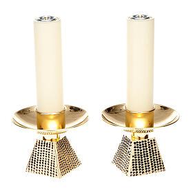 Coppia candelieri base quadrata s1