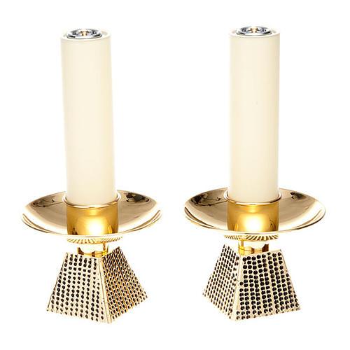 Coppia candelieri base quadrata 1