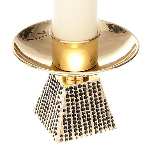 Coppia candelieri base quadrata 4