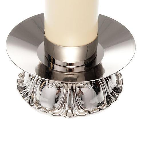 Candelieri in ottone argentato tondo 3