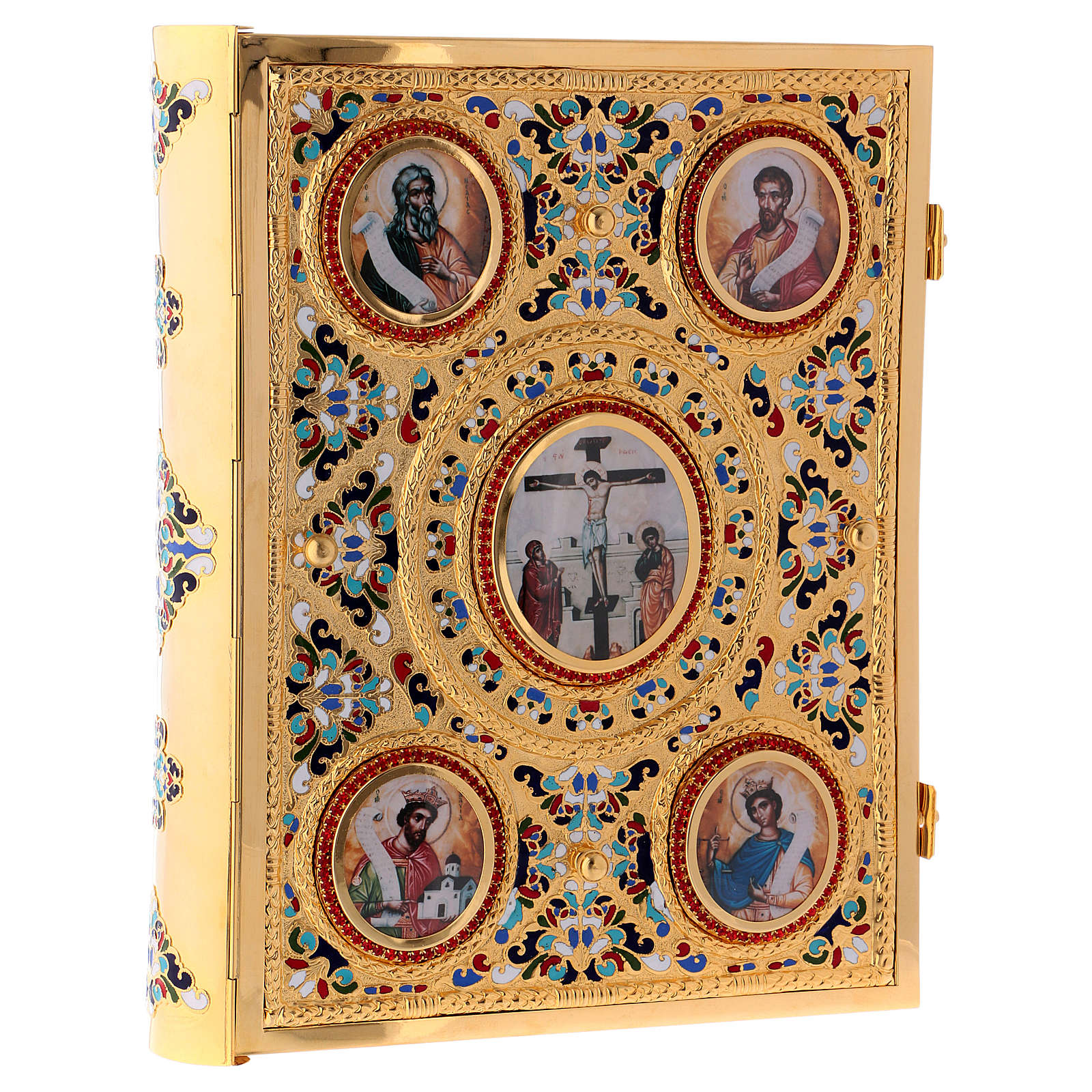 Golden brass lectionary/evangeliary slipcase 4