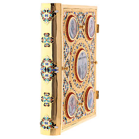 Golden brass lectionary/evangeliary slipcase s4