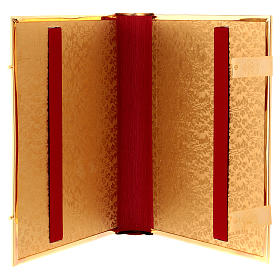 Golden brass lectionary/evangeliary slipcase s6