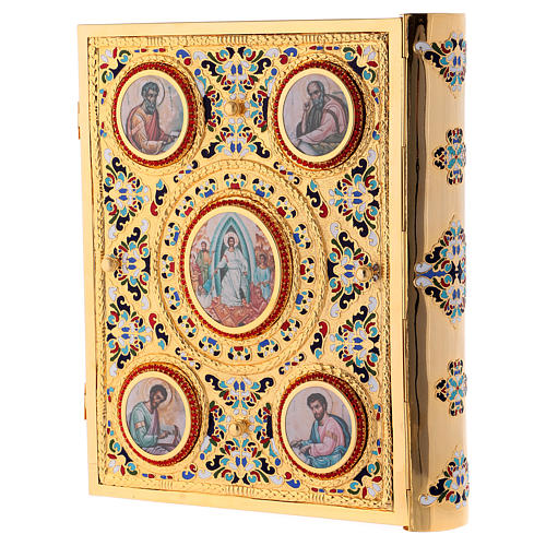Golden brass lectionary/evangeliary slipcase 3