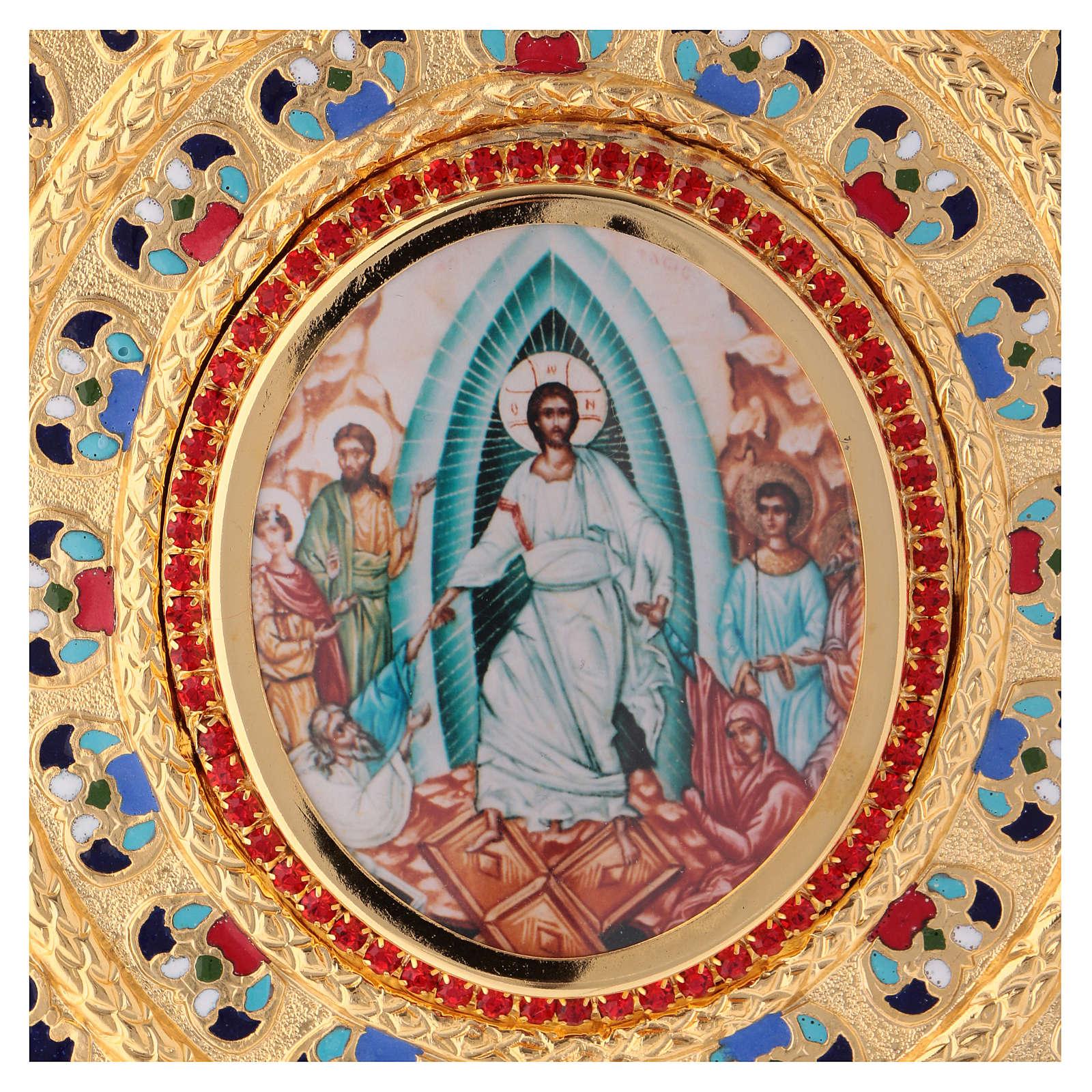 Copri evangeliario  lezionario ottone dorato 4