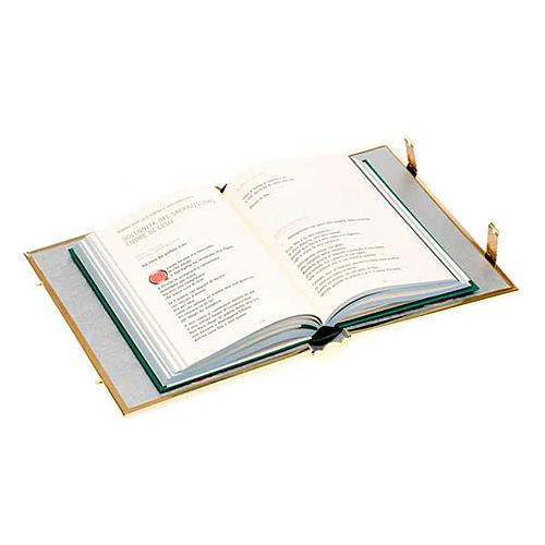 Copri evangeliario  lezionario ottone dorato 5