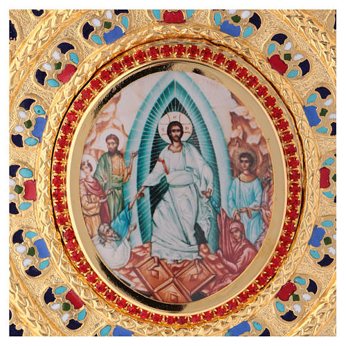 Copri evangeliario  lezionario ottone dorato 2