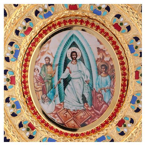 Okładka na ewangeliarz lekcjonarz mosiądz pozłacany 2