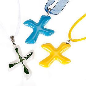 Saint Andrew's cross pendant s1