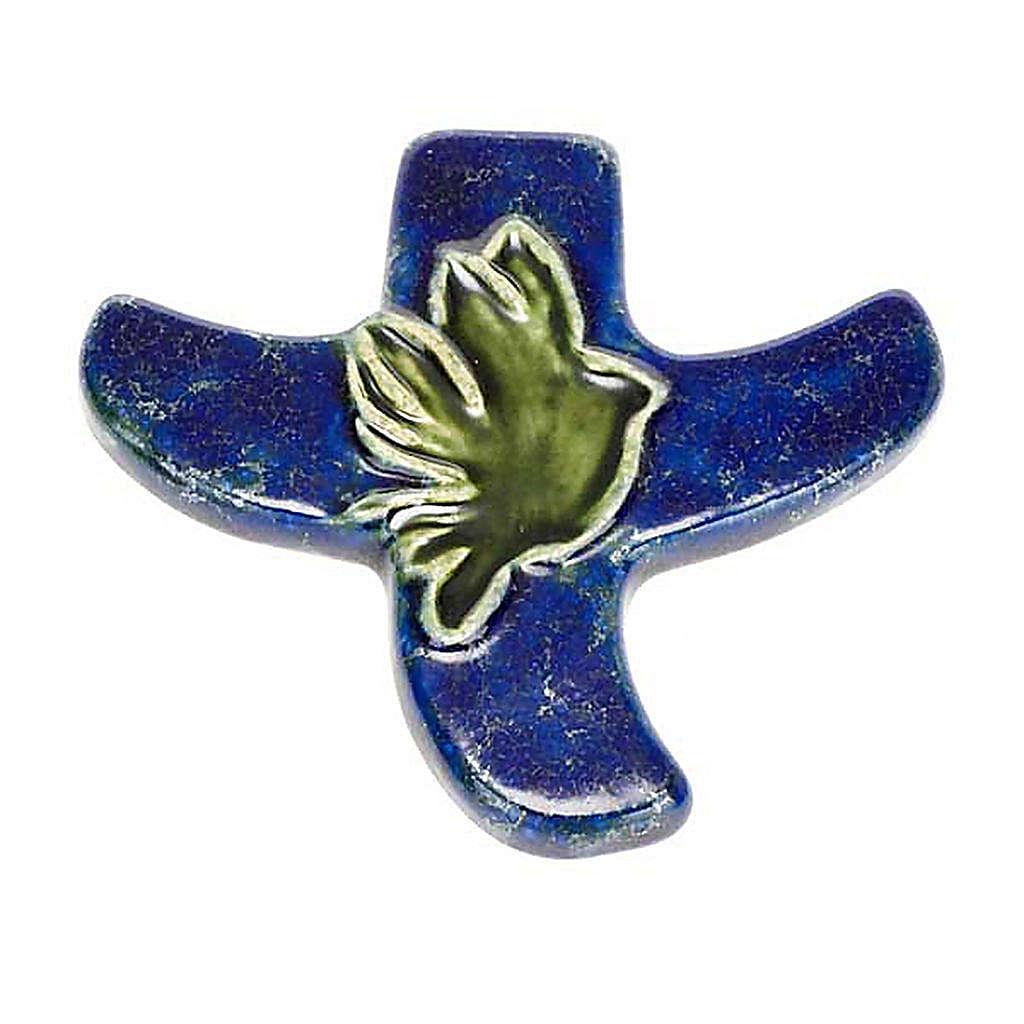 STOCK: Croce stilizzata colomba 4