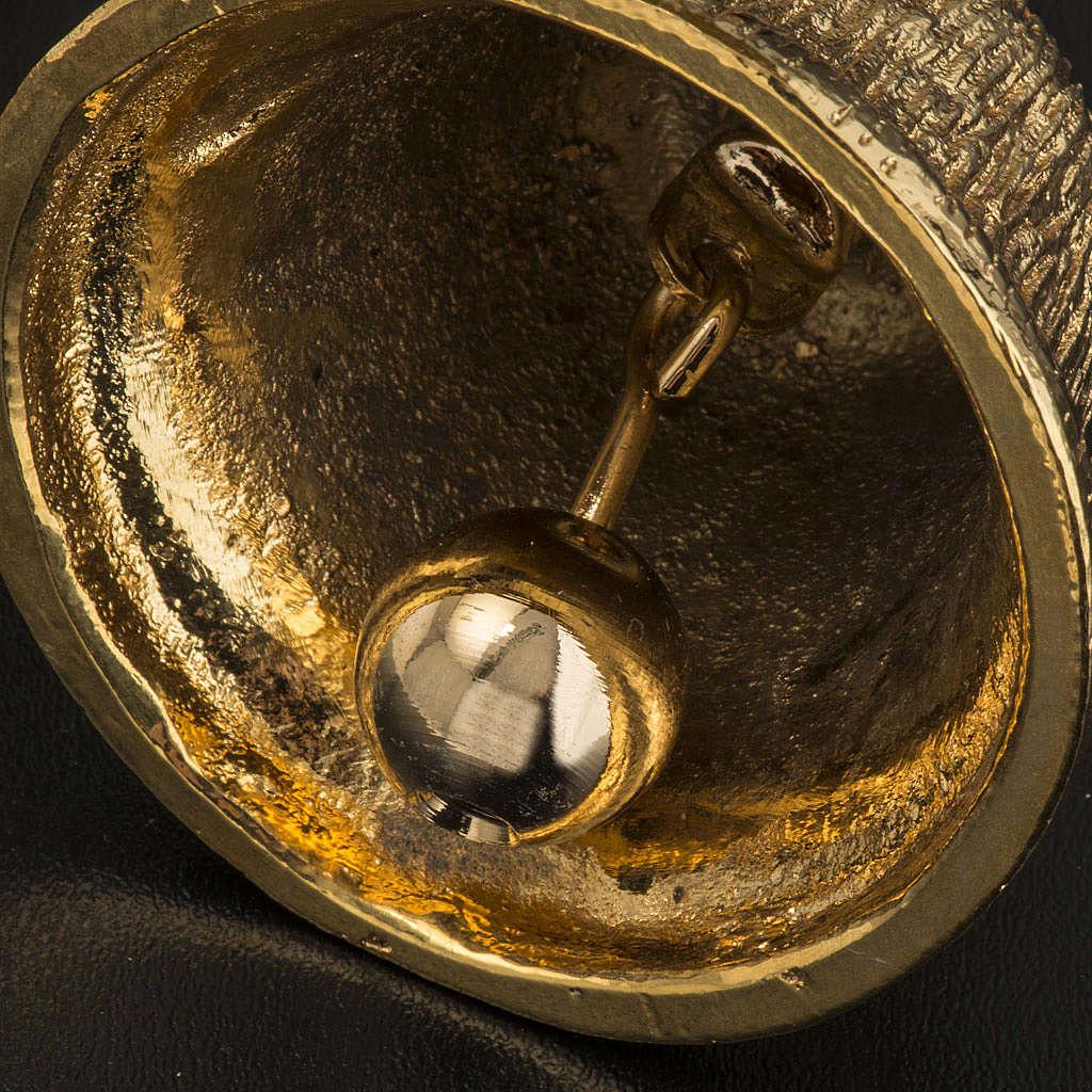 Carillon 4 timbres laiton doré 3