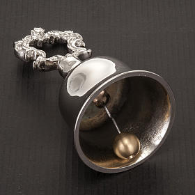 Liturgical nickel-plated bell with handle s3