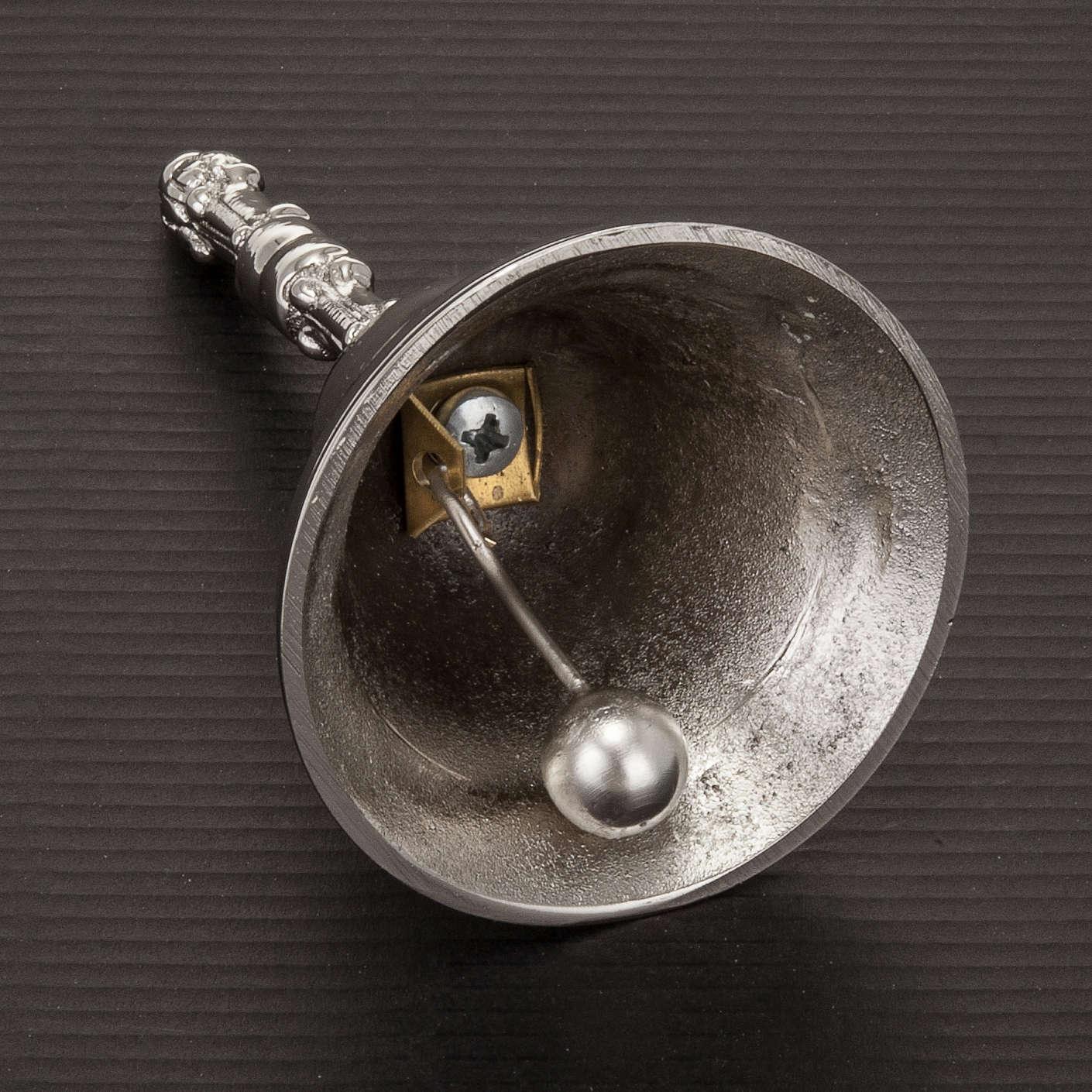 Campanello liturgico a un suono argentato con manico 3
