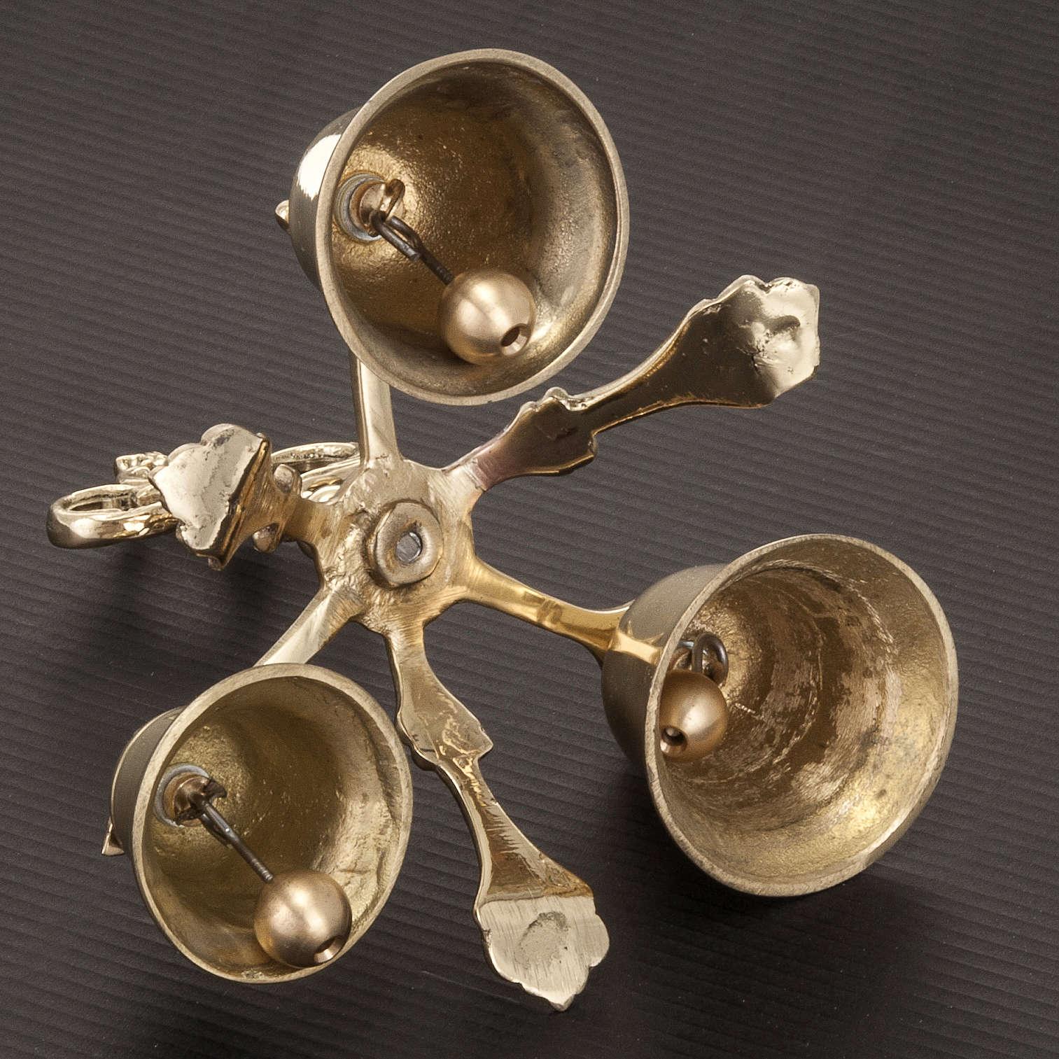 Campanello liturgico a tre suoni dorato 3