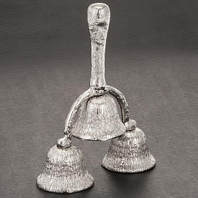 Church hand bell three-sound silver plated s2