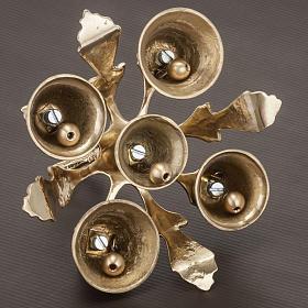 Campana litúrgica de cinco sonidos con decoración s5