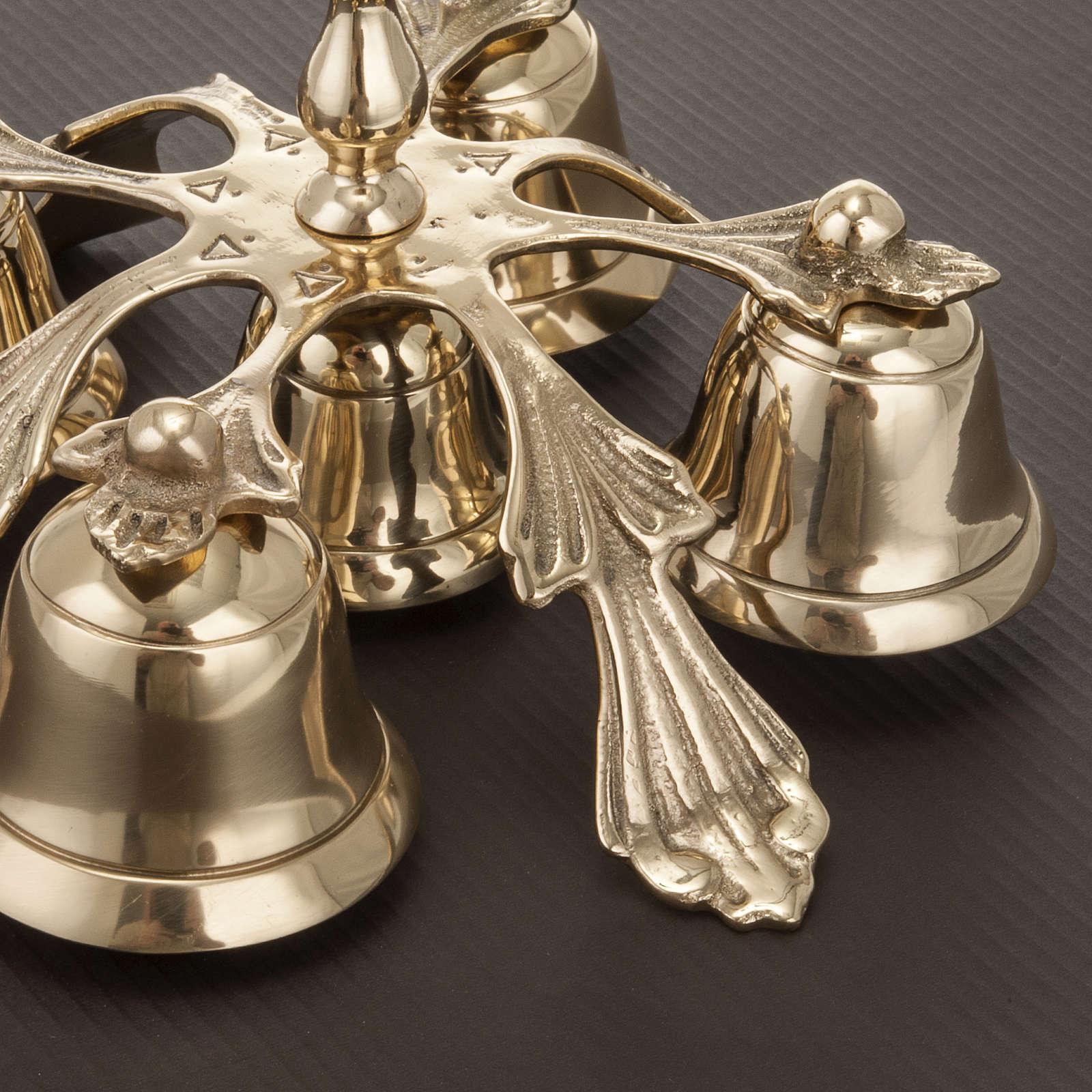Campanello liturgico a cinque suoni decorato 3